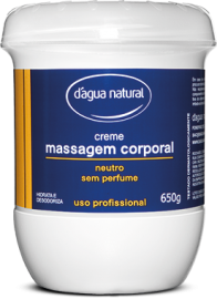 Creme para massagem D´Agua Natural neutro 650 grs