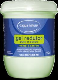 Gel Redutor de Medidas e Celulite Mentol e Cânfora - 750g D'água Natural
