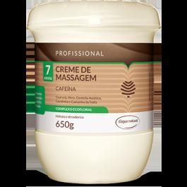 Creme para massagem D´Agua Natural Cafeína 7 ativos 650 grs