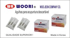 Agulha Woori 0,25x15 c/ 100 unidades coreana