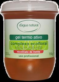 Gel Termo Ativo Ecofloral com Nicotinato de Metila 750grs D'água Natural